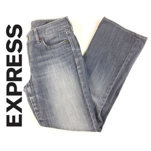 Express Wars Womens Jeans Low Rise Flare Leg